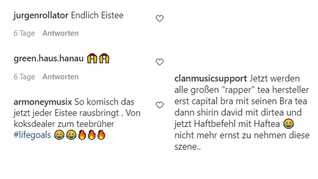 Auf Instagram scheinen Fans von Haftbefehls Idee nicht begeistert zu sein