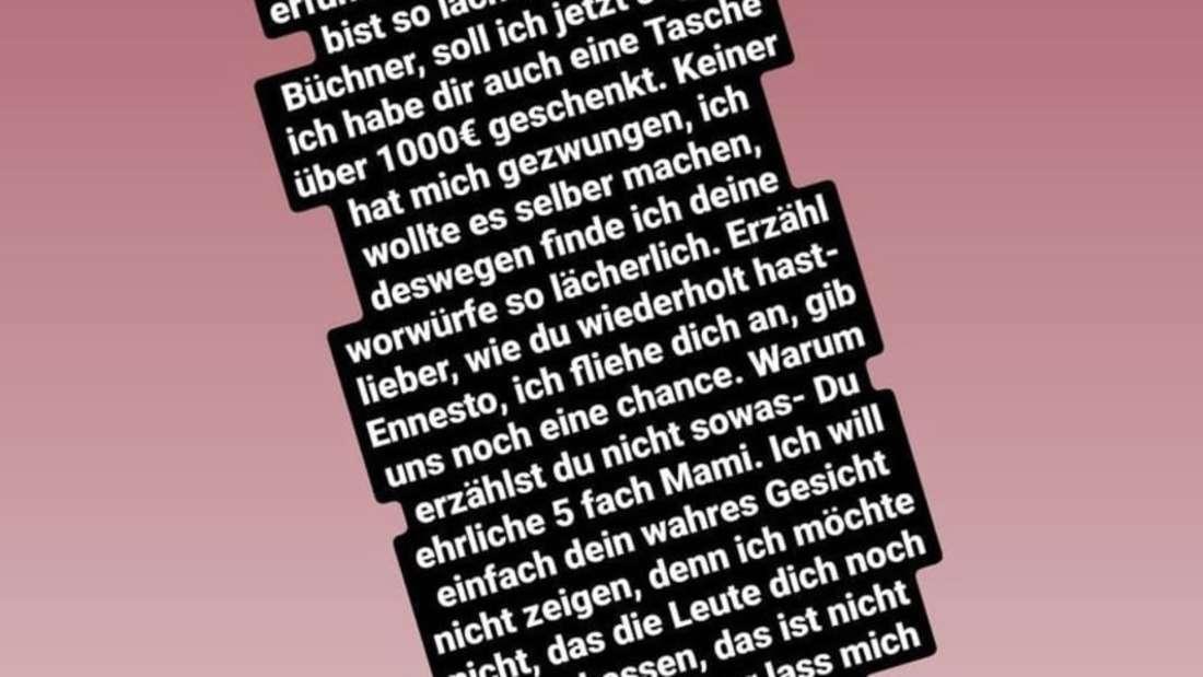 Instagram Story von Ennesto Monté