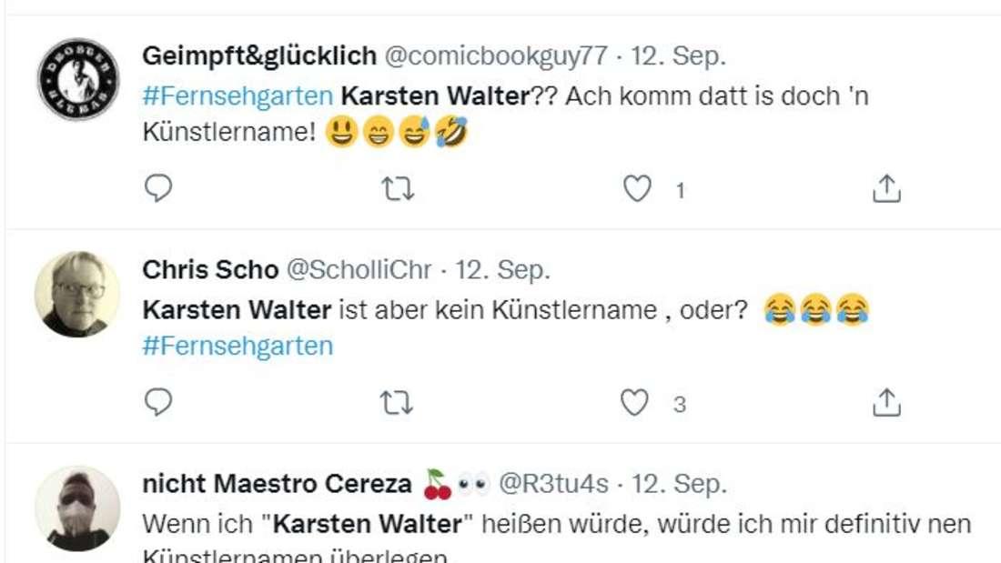 Twitter macht sich über Karsten Walters Namen lustig