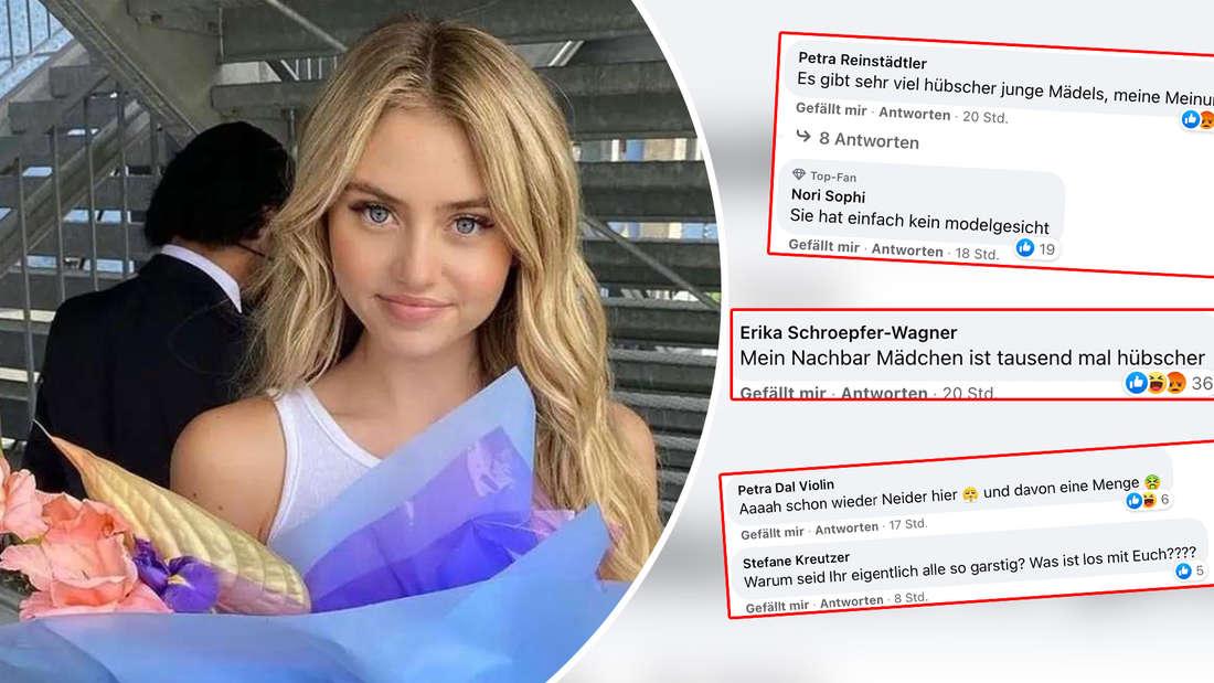 Leni Klum ist ein gefragtes Model. Doch einige diskutieren das Aussehen der 17-Jährigen nun im Netz. (Fotomontage)
