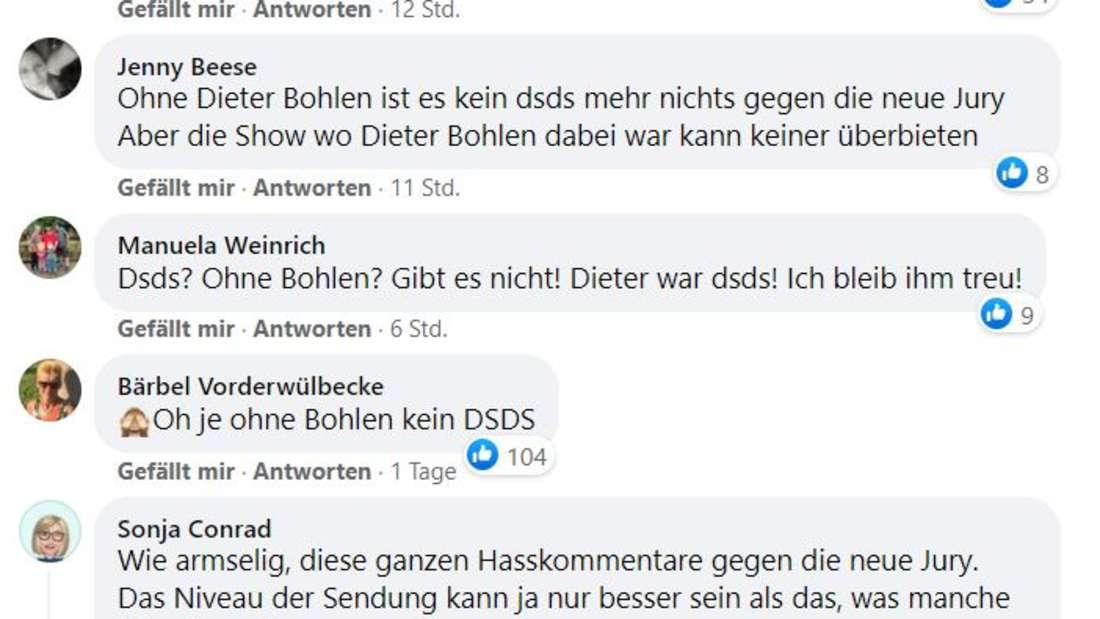 Screenshot DSDS-Facebook