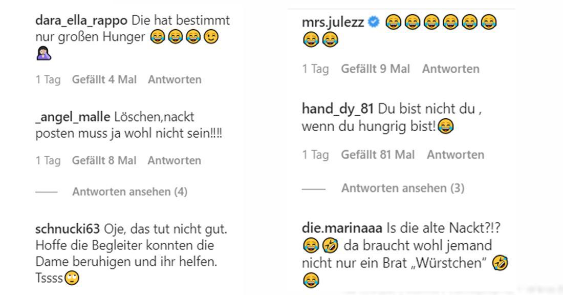 Auf Instagram kommt Melanie Müllers Aktion nicht bei allen Fans gut an
