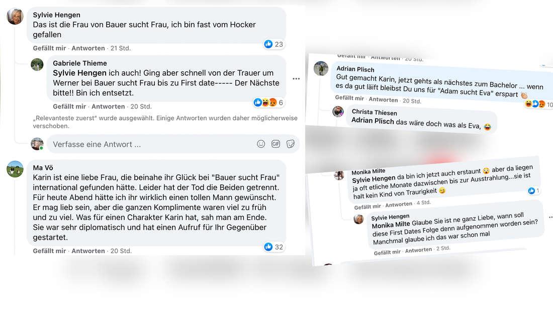 """Die Reaktionen auf Karin von """"Bauer sucht Frau"""" bei """"First Dates"""" sind gemischt. (Fotomontage)"""