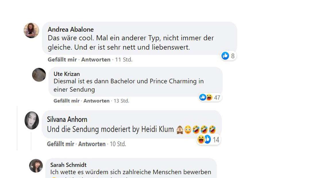Screenshot Facebookkommentare