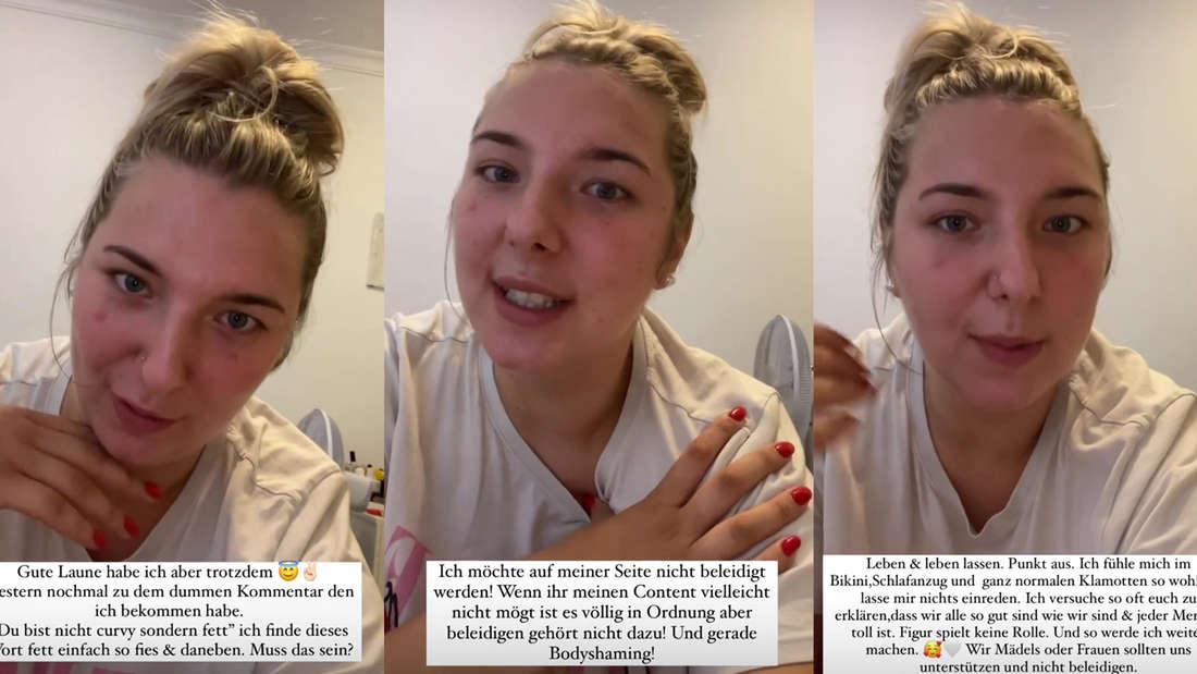 Drei Screenshots von Joelina Karabas aus ihrer Instagram-Story