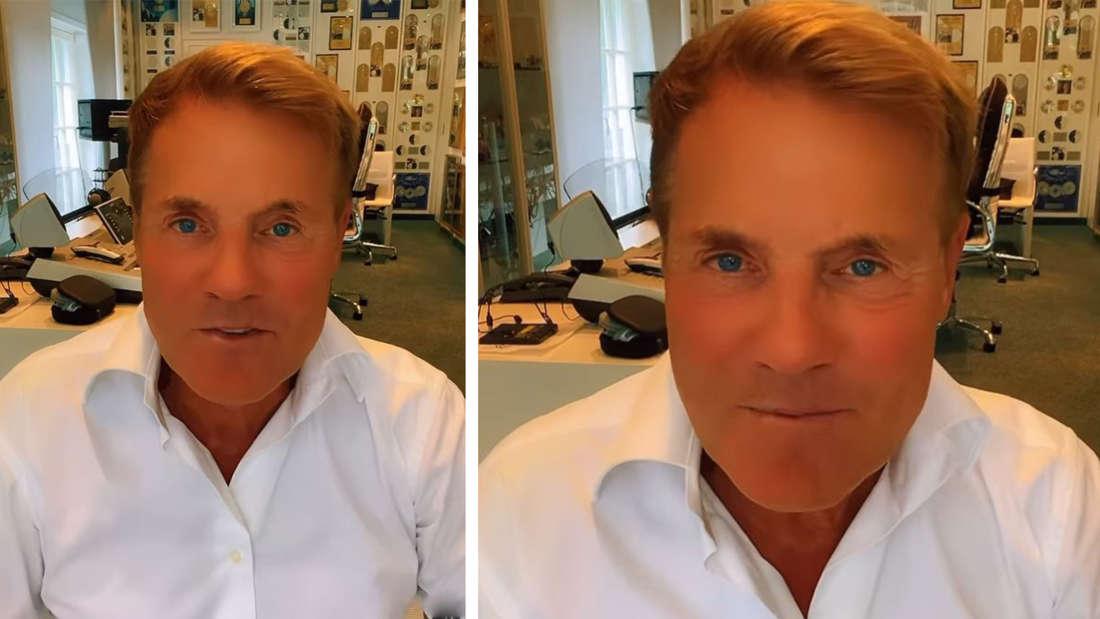 Zwei Bilder von Dieter Bohlen/Screenshots aus seinem Video