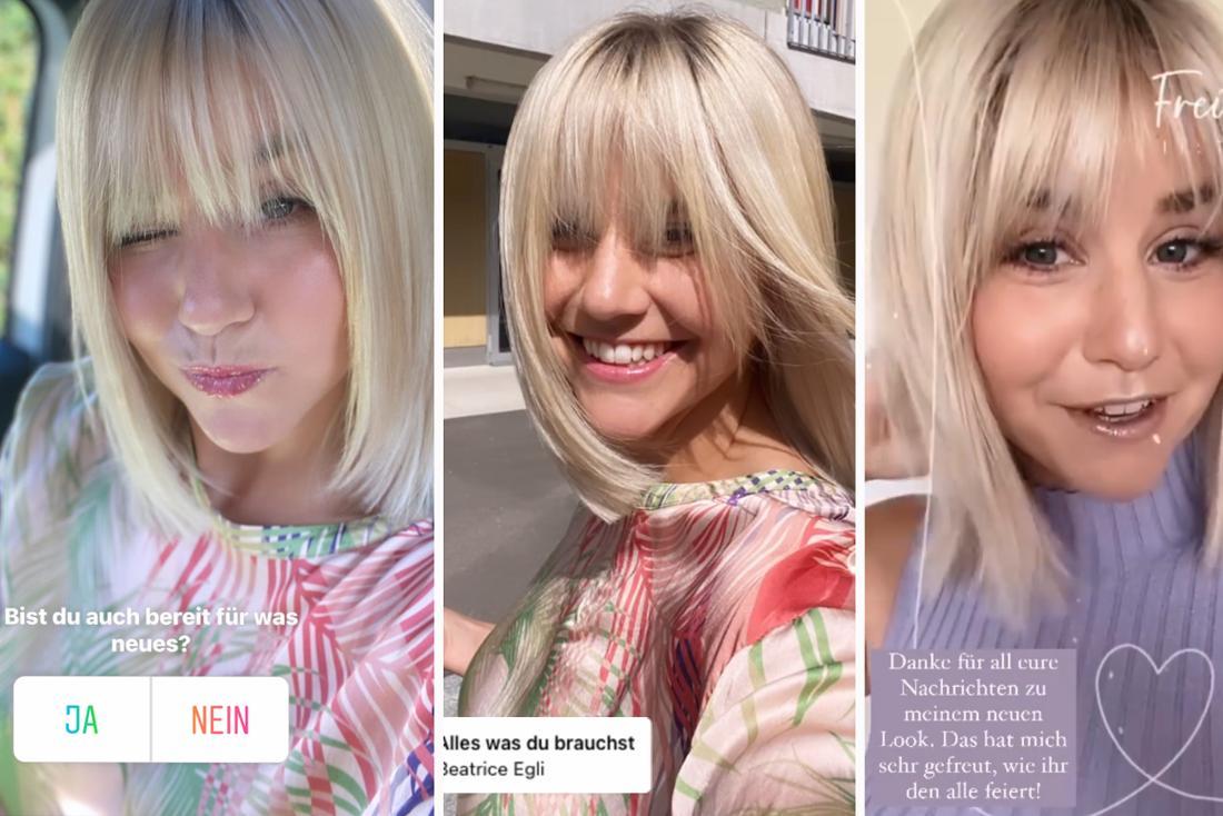 Beatrice Egli zeigt in mehreren Instagram-Stories ihre neue Frisur: Die Schlagersängerin trägt nun Pony