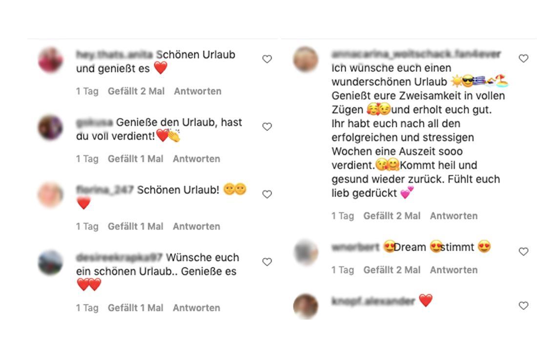 Schlagerfans kommentieren die Urlaubsfoto von Anna-Carina Woitschack auf Instagram