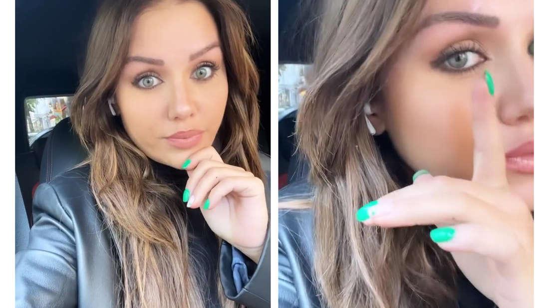 Kim erzählt ihren Followern bei Instagram von ihren Augenbrauen.