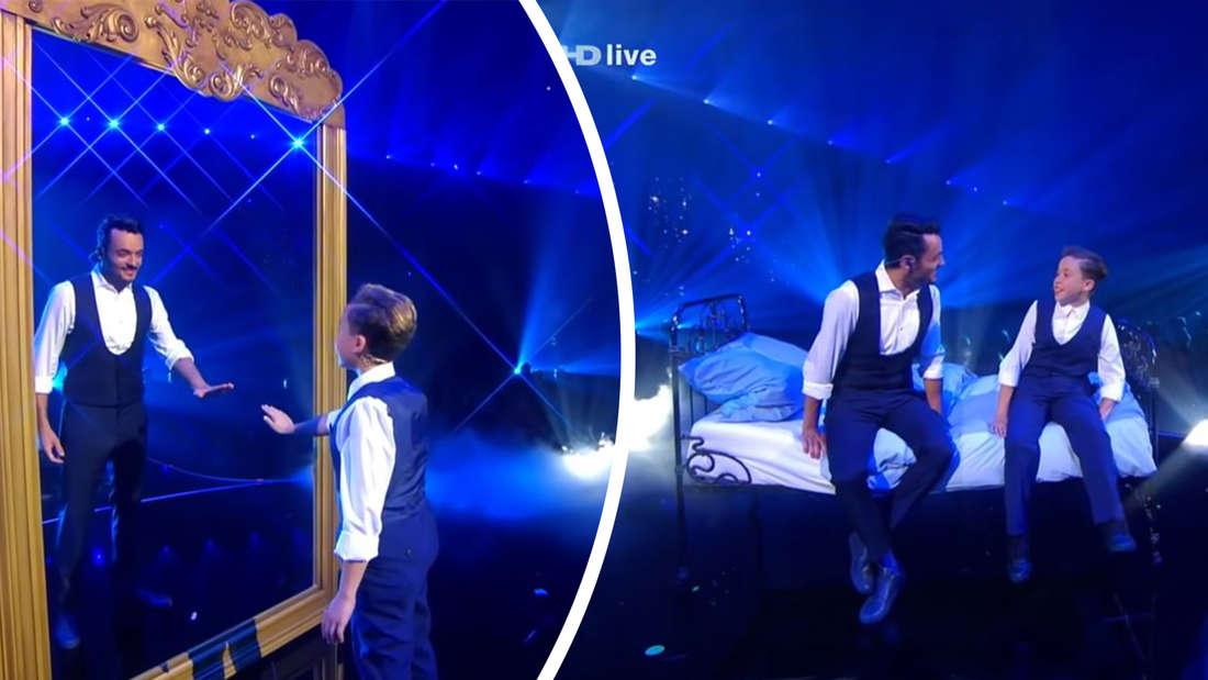Adriano und Giovanni auf der Bühne
