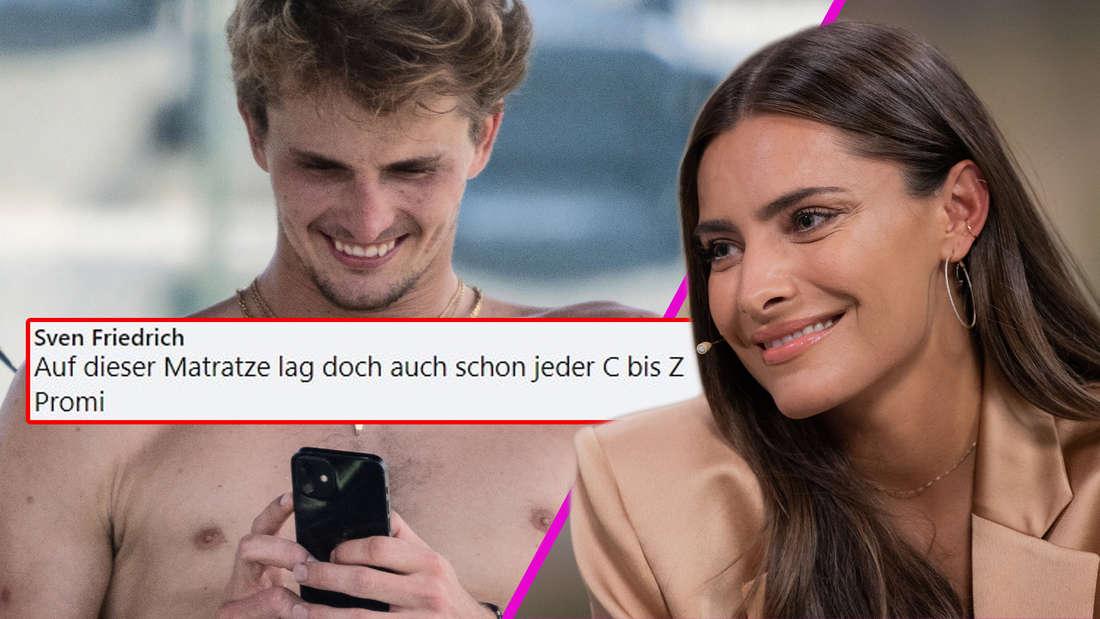 """""""Auf dieser Matratze lag schon jeder C-Promi"""": Fans verurteilen Sophia Thomalla wegen Alexander Zverev"""