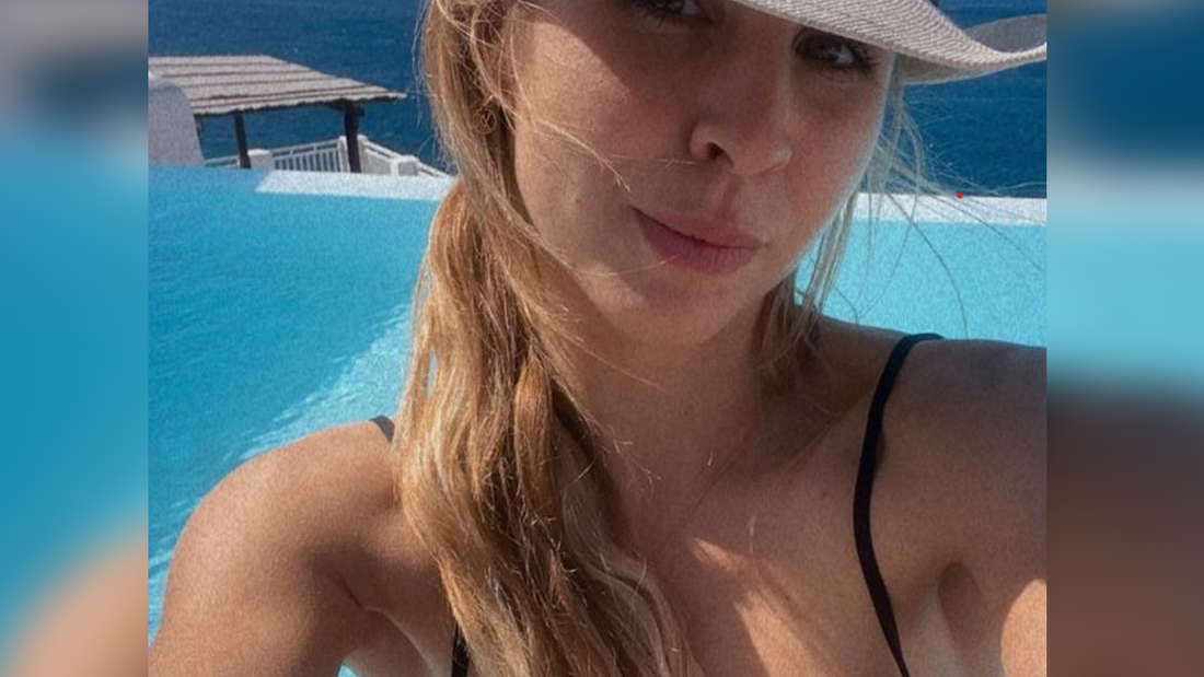 Nina Neuer auf Mykonos.