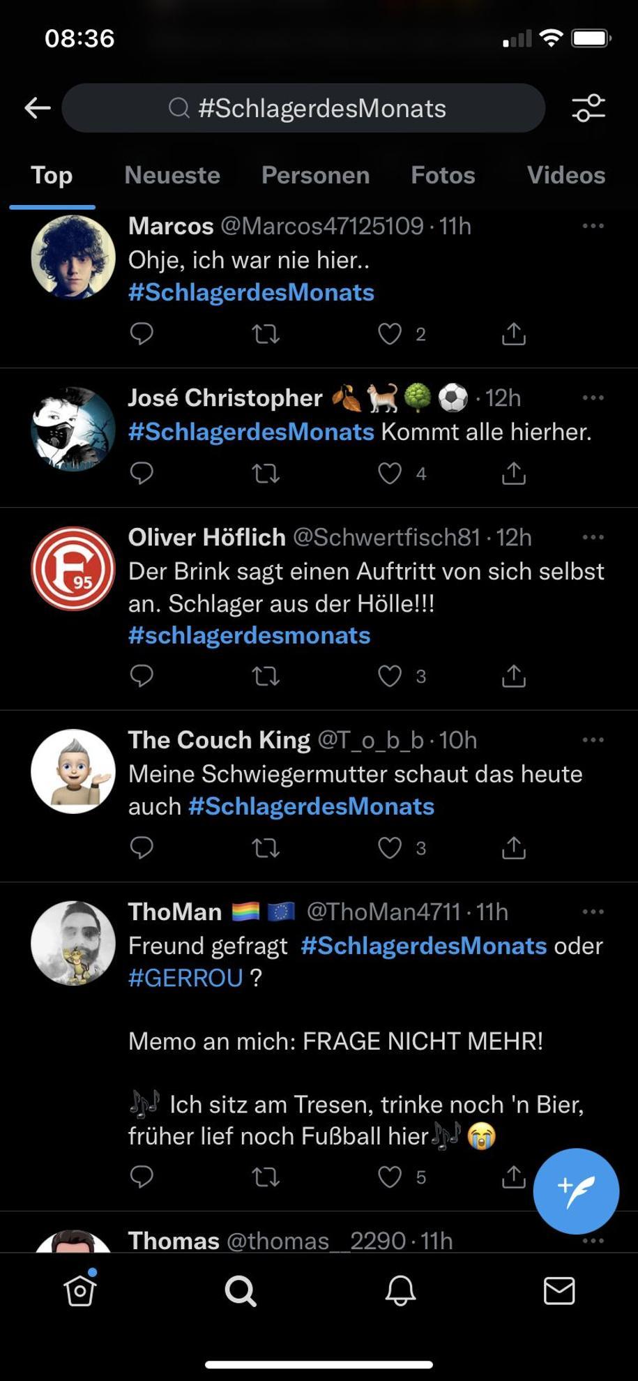 """""""Schlager der Hölle"""", nennt ein Twitter User Bernhard Brinks Show"""