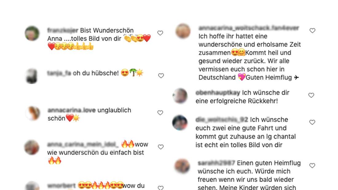 Anna-Carina Woitschack postet ein Bild im schwarzem Bikini. Ihre Fans feiern das Bild und kommentieren unter den Instagram-Post