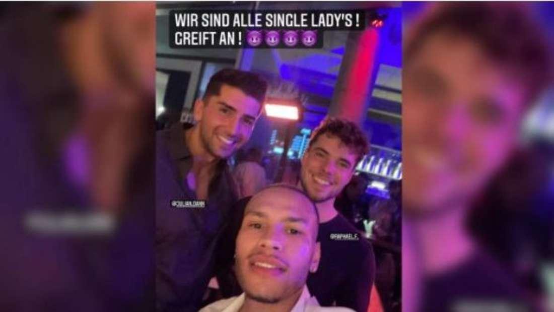 """""""Wir sind alle Single"""", postete Raphael's Ex-Konkurrent unter diesem Bild auf Instagram. Die Bachelorette-Boys feierten eine wilde Party in Stuttgart."""