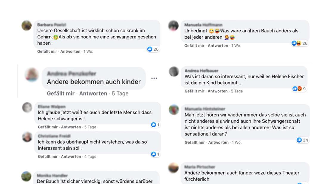 Schlagerfans sind genervt von den ständigen News zu Helene Fischers Schwangerschaft und machen ihrem Ärger im Netz Luft. (Fotomontage)