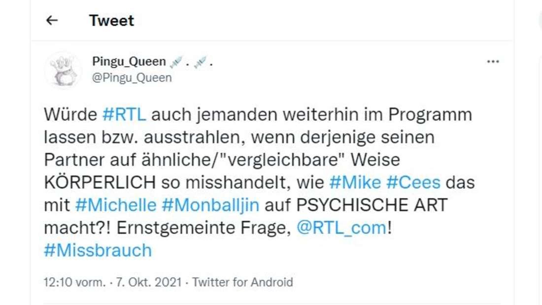 Viele User in den Sozialen Medien sind sauer, dass RTL Mike Cees-Monballijn eine Bühne bietet.