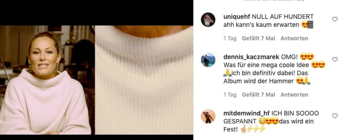 Helene Fischer kündigt einen Live-Stream zum Album-Release und eine Video-Premiere an. Ihre Fans sind über glücklich