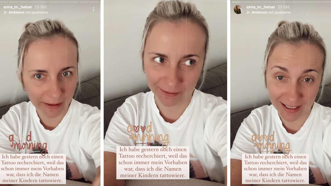 Drei Screenshots von Anna Heisers Instastory